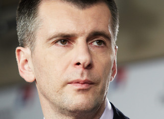 Mikhail Prokhorov Russians Go To The Polls In Presidential Election