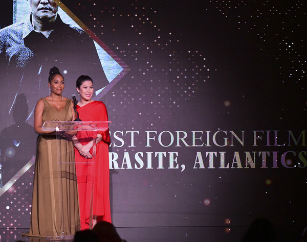 The African American Film Critics Association's 11th Annual AAFCA Awards - Inside [font,stage,event,star,formal wear,space,drama,musical,performance,night,ruthie ann miles,simone missick,taglyan cultural complex,california,hollywood,african american film critics association,11th annual aafca awards,ruthie ann miles,simone missick,all rise,the paley center for media,theatre,the paley center for media,television,actor]