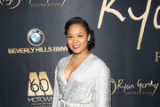 """Mechelle Mccain attends the Ryan Gordy Foundation """"60 Years of Motown"""" Celebration at the Waldorf Astoria Beverly Hills on November 11, 2019 in Beverly Hills, California."""