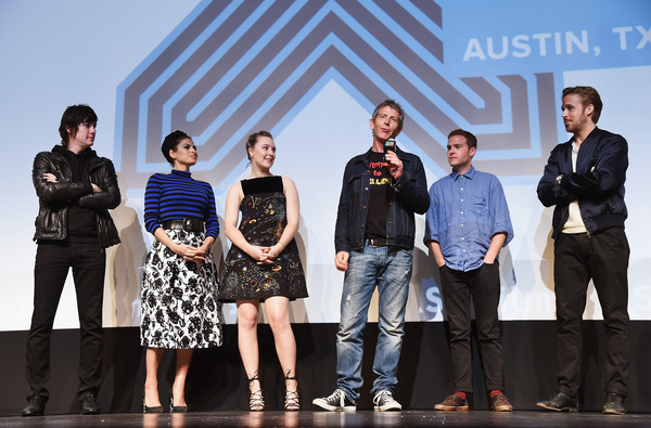 """Lost River"" - 2015 SXSW Music, Film + Interactive Festival [social group,event,fashion,team,youth,performance,competition,fashion design,white-collar worker,tourism,johnny jewel,ryan gosling,actors,ben mendelsohn,part,l-r,lost river,film interactive festival,sxsw music,q a]"