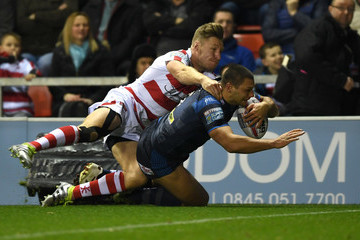 Ryan Hall Leigh Centurions v Leeds Rhinos - Betfred Super League