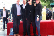 (L-R) Scott Stuber, Ted Sarandos, Ryan Murphy and Cindy Holland attend a ceremony honoring Ryan Murphy with a star on The Hollywood Walk of Fame on December 04, 2018 in Hollywood, California.