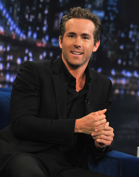 "Ryan Reynolds visits ""Late Night With Jimmy Fallon"" at Rockefeller Center on August 4, 2011 in New York City."
