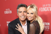 Esai Morales and Kristin Chenoweth attend the SAG-AFTRA Foundation's 3rd Annual Patron of the Artists Awards at the Wallis Annenberg Center for the Performing Arts on November 8, 2018 in Beverly Hills, California.