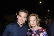 (L-R) Kevin Zegers (L) and SAG-AFTRA Foundation President Emeritus JoBeth Williams attends SAG-AFTRA Foundation's 4th Annual Patron of the Artists Awards at Wallis Annenberg Center for the Performing Arts on November 07, 2019 in Beverly Hills, California.
