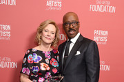 (L-R) SAG-AFTRA Foundation President Emeritus JoBeth Williams and SAG-AFTRA Foundation president Courtney B. Vance attend SAG-AFTRA Foundation's 4th Annual Patron of the Artists Awards at Wallis Annenberg Center for the Performing Arts on November 07, 2019 in Beverly Hills, California.