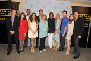 (L-R) Actors Greg Rikaart, Kate Linder, Redaric Williams, Melissa Claire Egan, Peter Bergman, co-creator Lee Phillips Bell, moderator Pat Harvey, actors Sharon Case, Michael Muhney, Tracey E. Bregman and Daniel Goddard attend the 40 years of 'The Young and The Restless' celebration presented by SAG-AFTRA at SAG-AFTRA on June 4, 2013 in Los Angeles, California.