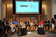 (L-R) Actors Peter Bergman, Sharon Case, Michael Muhney, Tracey E. Bregman  Greg Rikaart, Melissa Claire Egan, Redaric Williams, Kate Linder, Daniel Goddard and moderator Pat Harvey attend the 40 years of 'The Young and The Restless' celebration and panel discussion presented by SAG-AFTRA at SAG-AFTRA on June 4, 2013 in Los Angeles, California.
