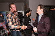 (L-R) Wrestler Kevin Nash and actor Matt Bomer greet each other backstage during Matt Bomer Spotlight Award Tribute at Trustees Theater on Day Two of the 17th Annual Savannah Film Festival presented by SCAD on October 26, 2014 in Savannah, Georgia.