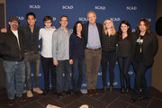 "Writer Scott Kosar, Writer Philip Buiser, Actor and Writer Freddie Highmore, Writer Steve Kornacki,  Writer Erica Lipez, Executive Producer Carlton Cuse, Writer Torrey Speer, Writer Alyson Evans, Executive Producer Kerry Ehrin, and Executive Editor Eric Goldman attend the ""Bates Motel"" event during aTVfest 2016 presented by SCAD on February 6, 2016 in Atlanta, Georgia."