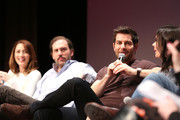 """Actress Bree Turner, Actor Silas Weir Mitchell, Actor David Giuntoli and Actress Bitsie Tulloch speak at the """"Grimm"""" event during aTVfest 2016 presented by SCAD on February 7, 2016 in Atlanta, Georgia."""