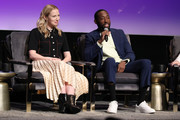 """Beth Riesgraf and Jeremy Tardy attend the SCAD aTVfest 2020 - """"68 Whiskey"""" Press Junket on February 28, 2020 in Atlanta, Georgia."""