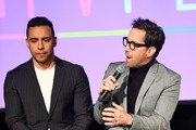 "Victor Rasuk and Dan Bucatinsky speak onstage for SCAD aTVfest 2020 - ""The Baker And The Beauty"" panel on February 28, 2020 in Atlanta, Georgia."