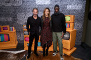 (L-R) Eric McCormack, Audra Pittman and J. Alexander attend SCAD aTVfest 2020 - In Conversation With Eric McCormack And Impact Award Presentation Press Junket on February 28, 2020 in Atlanta, Georgia.