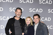 "(L-R) John Norris, Kim Cattrall and Tate Taylor attend the SCAD aTVfest 2020 - ""Filthy Rich"" With Kim Cattrall Icon Award Presentation on February 27, 2020 in Atlanta, Georgia."