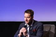 "Justin Hartley speaks onstage at the SCAD aTVfest 2020 - ""This Is Us"" With Justin Hartley Spotlight Award Presentation on February 29, 2020 in Atlanta, Georgia."