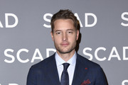 "Justin Hartley attends SCAD aTVfest 2020 - ""This Is Us""  Press Junket on February 29, 2020 in Atlanta, Georgia."
