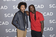 "Quincy Fouse and Chris Lee attend SCAD aTVfest 2020 - ""Legacies"" on February 29, 2020 in Atlanta, Georgia."