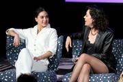 "(L-R) Melissa Barrera and Mishel Prada speak onstage at SCAD aTVfest 2020 - ""VIDA"" on February 28, 2020 in Atlanta, Georgia."