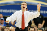 Head coach Billy Donovan of the Florida Gators coaches against the Kentucky Wildcats during the championship game of the SEC Men's Basketball Tournament at Georgia Dome on March 13, 2011 in Atlanta, Georgia.