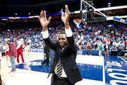 Head coach Avery Johnson of the Alabama Crimson Tide celebrates following the 81-63 win over the Auburn Tigers during the quarterfinals round of the 2018 SEC Basketball Tournament at Scottrade Center on March 9, 2018 in St Louis, Missouri.
