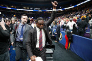 Avery Johnson the head coach of the Alabama Crimson Tide walks off of the court after Alabama beat the Texas A&M Aggies 71-70 during the second round of the 2018 SEC Basketball Tournament at Scottrade Center on March 8, 2018 in St Louis, Missouri.
