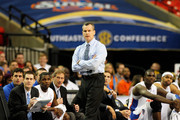 Head coach Billy Donovan of the Florida Gators looks on during their game against the Vanderbilt Commodores in the semifinals of the SEC Men's Basketball Tournament at Georgia Dome on March 12, 2011 in Atlanta, Georgia.