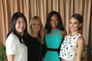 (L-R) Joyce Chang, Caley Yavorsky, Athlete Allyson Felix and Actress Jessica Alba attend SELF Joyce Chang, Jessica Alba Caley Yavorsky and Allyson Felix Luncheon on October 14, 2014 in Los Angeles, California.