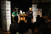 Editor-in-Chief of SELF Joyce Chang (L) and Maria Sharapova speak at a Q&A about being a SELF Made woman hosted by SELF Magazine September cover star Maria Sharapova and Editor-in-Chief Joyce Chang on August 18, 2014 in New York City.