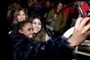 Shanola Hampton takes a selfie with guests at a party hosted by SHOWTIME®, Prime Video Channels, and IMDb to celebrate SHAMELESS at Acura Festival Village on January 26, 2019 in Park City, Utah.