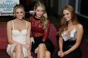 (L-R) Models Allie Ayers, Olivia Jordan and Haley Kalil attend the SI Swimsuit 2018 Model Search celebration and preview of the Sports Illustrated Swim and Active Collection at Mr. Purple in Hotel Indigo LES November 1, 2017 in New York City.
