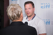 Actor Jim Parrack gives an interview before the world premiere of the film 'Trouble' at Egyptian Theater, Seattle on June 7, 2017 in Seattle, Washington.