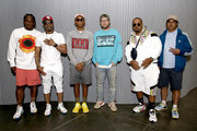 (L-R) Pusha T, Teddy Riley, Pharrell,  Scott Vener, Timbaland, and Chad Hugo attend the OTHERtone panel at SOMETHING IN THE WATER - Day 1 on April 26, 2019 in Virginia Beach City.
