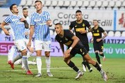 Alexis Sanchez of FC Internazionale .celebrates after scoring his team's third goal during the Serie A match between SPAL and FC Internazionale at Stadio Paolo Mazza on July 16, 2020 in Ferrara, Italy.