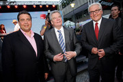 German presidential candidate Joachim Gauck (C) attends a reception of the German Social Democrats (SPD) with SPD Chairman Sigmar Gabriel (L) and SPD Bundestag faction head Frank-Walter Steinmeier on June 29, 2010 in Berlin, Germany. Gauck is the candidate of the SPD and the German Greens Party, and will face candidate Christian Wulff in elections to take place at the Federal Assembly on June 30. Gauck is a pastor and former East German human rights activist.