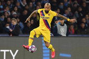 Arturo Vidal of FC Barcelona during the UEFA Champions League round of 16 first leg match between SSC Napoli and FC Barcelona at Stadio San Paolo on February 25, 2020 in Naples, Italy.