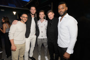 """Omid Abtahi, Pablo Schreiber, Bruce Langley, Crispin Glover and Demore Barnes attend the STARZ American Gods """"House of the Gods"""" intimate experience at SXSW on March 9, 2019 in Austin, Texas."""