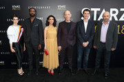 """(L-R) Actors Sara Serraiocco, Nicholas Pinnock, Nazanin Boniadi, J. K. Simmons, Harry Lloyd and Richard Schiff of """"Counterpart"""" attend the STARZ """"Counterpart"""" & """"Howards End"""" FYC Event at LACMA on May 23, 2018 in Los Angeles, California."""