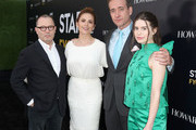 """(L-R) Execuctive producer Colin Callender, actors Philippa Coulthard, Matthew Macfadyen and Hayley Atwell of """"Howards End"""" attend the STARZ """"Counterpart"""" & """"Howards End"""" FYC Event at LACMA on May 23, 2018 in Los Angeles, California."""