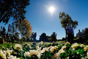 Danny Lee of New Zealand plays his shot from the 13th tee during the final round of the Safeway Open at the North Course of the Silverado Resort and Spa on October 7, 2018 in Napa, California.