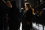Catherine Deneuve attends Saint Laurent show as part of the Paris Fashion Week Womenswear Fall/Winter 2019/2020 on February 26, 2019 in Paris, France.