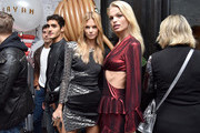 Nadine Leopold and Daphne Groeneveld attend as Saks celebrates AdR Book: Beyond Fashion By Anna Dello Russo with a private dinner at WAYAN on September 10, 2018 in New York City.
