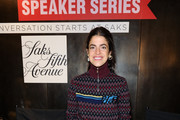 Leandra Medine attends the the Saks Fearless Women Speaker Series with Leandra Medine and Sandra Choi on October 16, 2018 in New York City.