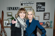"""Carol Smith and Jane Fonda attend Jane Fonda For Harper's Bazaar """"Dare I Say"""" Live Podcast Hosted by Saks Fifth Avenue And American Express at L'Avenue at Saks Fifth Avenue on November 05, 2019 in New York City."""