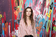 Model Dasha Denisenko attends Saks Fifth Avenue And Good Luck Dry Cleaners Launch Underground Art-Themed Speakeasy, GLD@Saks at Level Zero - Saks Fifth Avenue on February 7, 2018 in New York City.