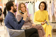 Jonathan Safran Foer, Stella McCartney, and Alina Cho participate in a panel discussion hosted by Saks Fifth Avenue on October 30, 2019 in New York City.
