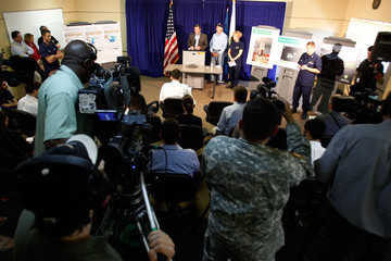 Mary Landry Salazar, BP Officials Update Media On Oil Spill Response In Louisiana