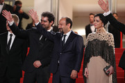 """Producer Alexandre Mallet-Guy, director Asghar Farhadi, actor Shahab Hosseini and actress Taraneh Alidoosti attend """"The Salesman (Forushande)"""" Premiere during the 69th annual Cannes Film Festival at the Palais des Festivals on May 21, 2016 in Cannes, France."""