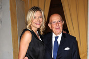 Natasha Stefanenko and Mario Boselli attend the Salvador Dali Opening Exhibition during Milan Fashion Week Womenswear S/S 2011 on September 22, 2010 in Milan, Italy.