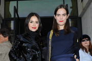 Carolina Gawronski and Miroslava Duma attend the Salvatore Ferragamo show as part of Milan Fashion Week Womenswear Spring/Summer 2014 on September 22, 2013 in Milan, Italy.